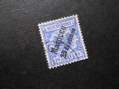D.R.Mi 4  25C Auf 20Pf  Deutsche Auslandspostämter (Marokko) 1899  Mi 19,00 € - Offices: Morocco