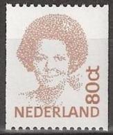 1991-1998 Beatrix (inversie) 80 Ct Rolzegel 2 Zijden Ongetand NVPH 1489a Postfris/MNH/** - 1980-... (Beatrix)