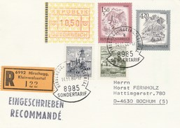 1988 Registered AUSTRIA SONDERTARIF COVER Stamps 10.50 FRAMA Atm Label, 1.50s 4.50s 1.30s 70g Card - 1981-90 Covers