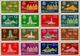 Ned Antillen 1958 Queen Juliana And Various Sites NVPH 275-290, MNH** Postfris - Antillen