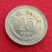 India 25 Paise 1986 B KM# 49.1 Inde Indie - Inde