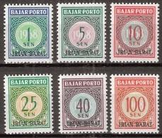 Indonesia 1968 Irian Barat Port Yv 7-12. MNH** Postfrisch - Indonesië