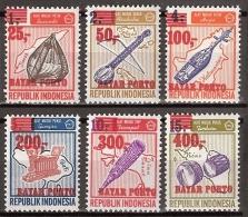 Indonesia 1978 Port, Dienst, Service ZBL 61-66 MNH/** Postfrisch - Indonesië