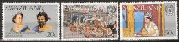Swaziland 1977  Silver Jubilee Coronation Queen Elisabeth - Complete - MNH**, Postfrisch Ohne Falz , Neuf Sans Charnière - Swaziland (1968-...)