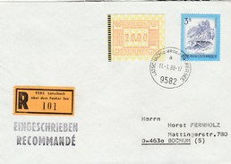 1988 Registered AUSTRIA COVER Stamps 20.00 FRAMA Atm Label, 3s - 1981-90 Covers