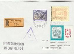 1988 Registered AUSTRIA COVER Stamps 11.00 FRAMA Atm  5.50s 6.50s ,SAVE THE BEES Label  Bee Insect - 1945-.... 2nd Republic