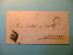 España Espagne Carta Circulada 8 / 7/1872 Barcelona A Manresa Edifil 107 - Cartas