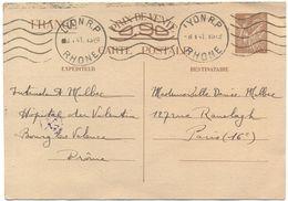 FRANCIA - France - 1941 - 90c - Hôpital Militaire Du Valentin - Carte Postale - Postal Card - Intero Postale - Entier Po - Biglietto Postale