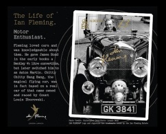 Alderney 2014 Mih. 511 (Bl.36) Writer Ian Fleming. Racing Car Aston Martin MNH ** - Alderney