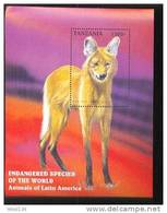 TANZANIA   1633 MINT NEVER HINGED SOUVENIR SHEET OF ANIMALS - Timbres