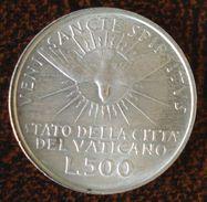 (J) VATICAN CITY: Silver 500 Lire Sede Vacante 1963 AU (1507) SALE!!! - Vaticano (Ciudad Del)