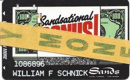 Sands Casino Las Vegas - 8th Issue Sandsational Bonus! Card - EASY MONEY RIBBON - No Black Square  ...[RSC]... - Casino Cards