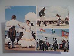 BRASIL BRAZIL RIO GRANDE DO SUL GAÚCHOS Folk Dance Horses  1970s Postcard Z1 - Postcards