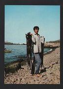FISHER Of FISH BLACK SWORDFISH 1970years MADEIRA PORTUGAL Postcard Z1 - Postcards