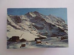 1960s Postcard ALPS KLEINE SCHEIDEGG SWITZERLAND SUISSE Z1 HELVETIA - Postcards