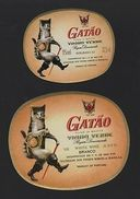 LABEL WHITE WINE LABELS WINES PORTUGAL CATS PUSS & BOOTS CAT SHOES Z1 Chat Chats - Other Collections