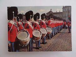 SCANDINAVIA DANMARK DENMARK COPENHAGEN ROYAL GUARD & MUSIC DRUM 1960 YEARS PC Z1 - Postcards