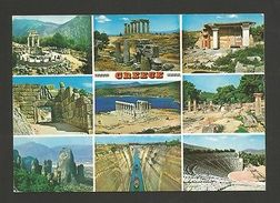 GREECE ARCHAEOLOGY HISTORY Postcard 1960years  Posted 1990 Year2  Stamps 1989 Z1 - Postcards