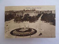 SPAIN ESPAÑA ESPANA ESPAGNE MADRID PLAZA DE CÁNOVAS 1910 YEARS POSTCARD Z1 - Postcards