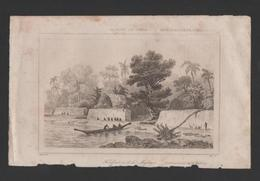 Years 1840s ART ANTIQUE PRINT TONGA FORT MAFANGA  Sg DANVIN DEL /  ALES SC - Postcards