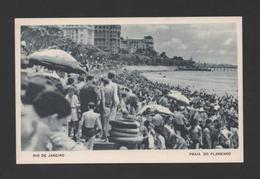 RIO DE JANEIRO 1940s PRAIA DO FLAMENGO Advert Pc Casino Copacabana BRAZIL BRASIL - Postcards