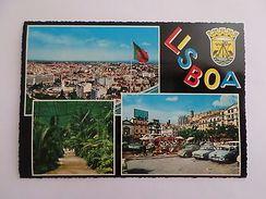 LISBOA LISBON 1960 Years ART POSTCARD CAR PORTUGAL CARS  AUTOMOBILES LISBONNE Z1 - Postcards