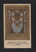 ITALY HOLY CARD Vintage Religious VENICE VENEZIA Year1932 VIRGIN LA NICOPEJA Z1 - Unclassified