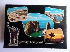 BEIRUT 1960years Postcard Stamp LIBAN LEBANON BEYROUTH Z1 - Postcards