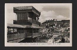 1950 Years REAL PHOTO POSTCARD  LISBON LISBOA PORTUGAL ELEVADOR S. JUSTA Lift - Postcards