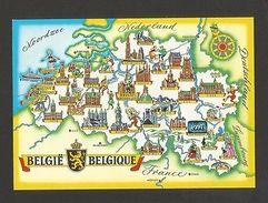 POSTCARD MAPS MAP BELGIUM BELGIQUE BELGIE BELGIË Z1 - Postcards