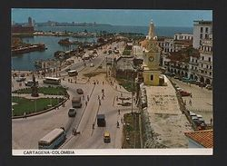CARTAGENA COLOMBIA Postcard 1960years Cars Car Bus Buses Z1 - Postcards