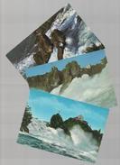 3 Postcard1960/70s SWITZERLAND SCHLOSS LAUFEN RHEINFALL NEUHAUSEN SUISSE SCHWEIZ - Postcards