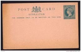 GIBRALTAR    Victoria 5 Centimos Postcard   Unused - Gibraltar