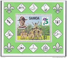 SAMOA, 1982 SCOUTS MINISHEET MNH - Samoa