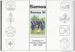 SAMOA, 1983 BOYS BRIGADE MINISHEET MNH - Samoa
