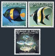 Djibouti 521-523,MNH.Michel 296-298. Angel Fish,Moorish Idol,Scad.1981. - Fishes