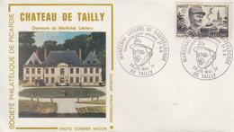 Enveloppe   Chateau  De   TAILLY  Résidence  Du   Maréchal   LECLERC      1977 - Guerre Mondiale (Seconde)