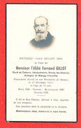 80 DAOURS Faire Part Deces De L ' Abbé Fernand GILLOT Le 19/12/1951 - Décès