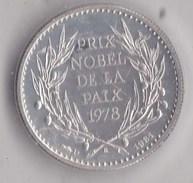 Médaille En Argent Anouar EL-SADATE LOT Y036 - Jetons & Médailles