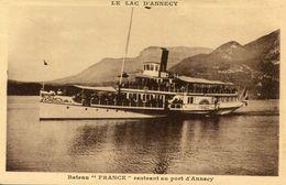 BATEAU(LAC LEMAN) ANNECY - Ferries