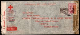 Australia To Switzerland (Portugal?) Censored RED CROSS Airmail Cover 1943 - Covers & Documents