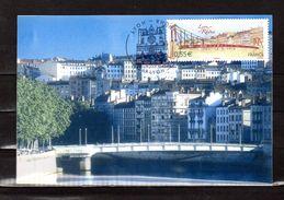""""""" LYON / PASSERELLE DE SAINT-GEORGES / PONT """" Sur Carte Maximum Souple De 2008. N° YT 4171. Parfait état. CM - Brücken"""