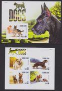 Sierra Leone 2015 Dog Chien MNH 1SS+1sheet Imperforate - Sierra Leone (1961-...)
