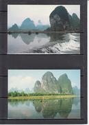"""CHINE   2 Entiers  0.70 Annee 1984  Sans Ecriture  """" Xingping Et Lijiang River..."""" - 1949 - ... République Populaire"""