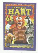 Publicité , Le Cirque HART , CHATELLERAULT , 14 X 10 , Clown , Animaux , 2 Scans - Advertising