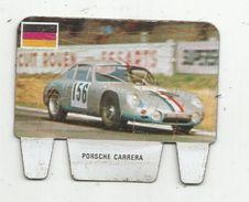 Publicité , Plaquette , Métal , Lessive CRIO , Grand Prix Automobile , Photo Rosenthal , PORSCHE CARRERA , 2 Scans - Automotive