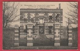 Péronnes-lez-Binche - Le Château De M. Léon Gravis , Incendié Par Les Barbares ( 1920 ) - 1921 ( Voir Verso ) - Binche