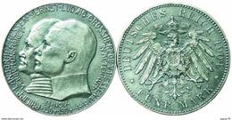 1904 Funf Mark. Replica Coin. - Germania