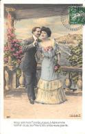[DC11047] CPA - COPPIA INNAMORATI - Viaggiata 1908 - Old Postcard - Coppie