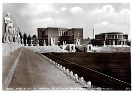 [DC11066] CPA - ROMA - FORO MUSSOLINI - STADIO DEI MARMI - INGRESSO E ACCADEMIA FASCISTA - NV - Old Postcard - Stades & Structures Sportives